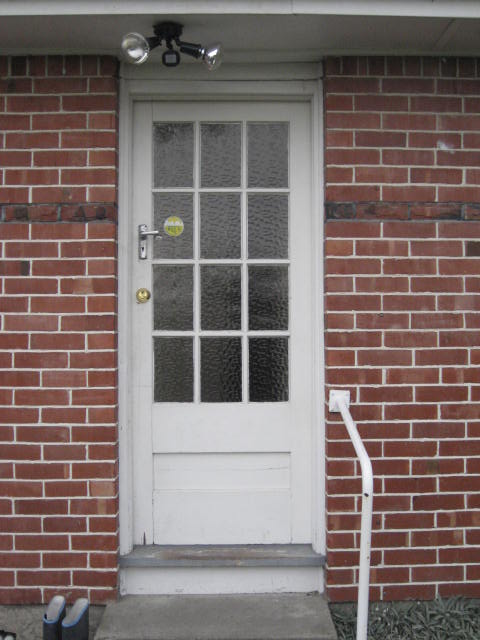 Before-Hinged Door