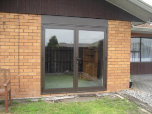 french doors full lenght glass. Colour-Bronze